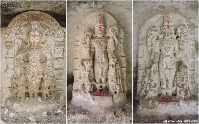 Vishnu Sculptures at Mul Dwarka Stepwell