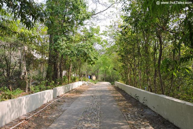 Walkway at 84 Kutiya - Rishikesh