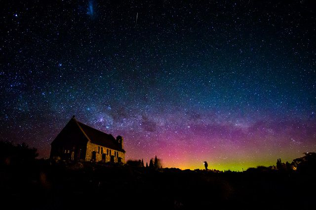 Hues of Australis Aurora from New Zealand South Island