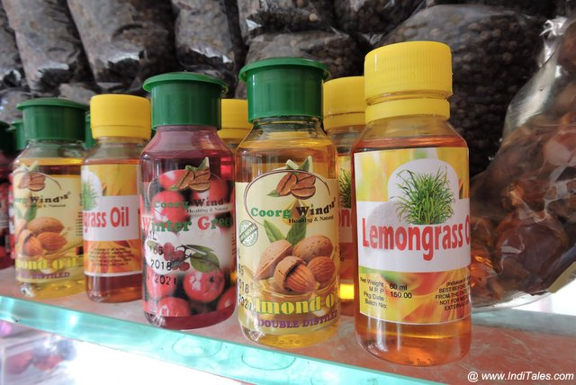 Lemon Grass oil, Almond oil etc on sale