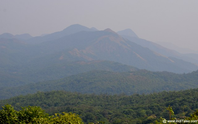 Mountains landscape as seen from Talakaveri