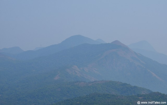 View of Mountain peaks of Western Ghats from Talakaveri