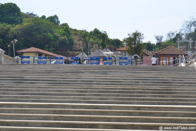 Staircase leading to Talakaveri Temple complex