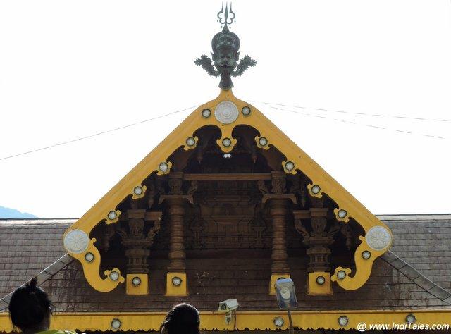 Slanting wood panel of Bhagandeshwara temple