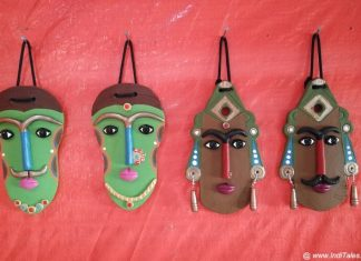 Bamboo Masks as Coorg Souvenirs