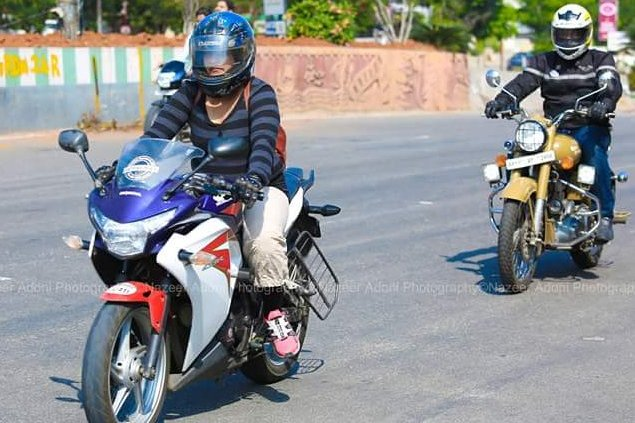 Bike rally for soldiers at  Hyderabad