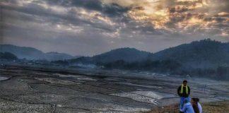 Golden sunset over the Ziro valley