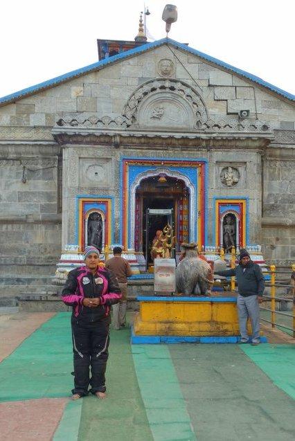 Shilpa Balakrishnan afternoon Kedarnath Darshan