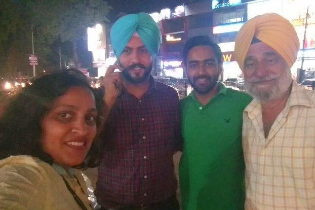 Shilpa Balakrishnan with Bikers group in Patiala