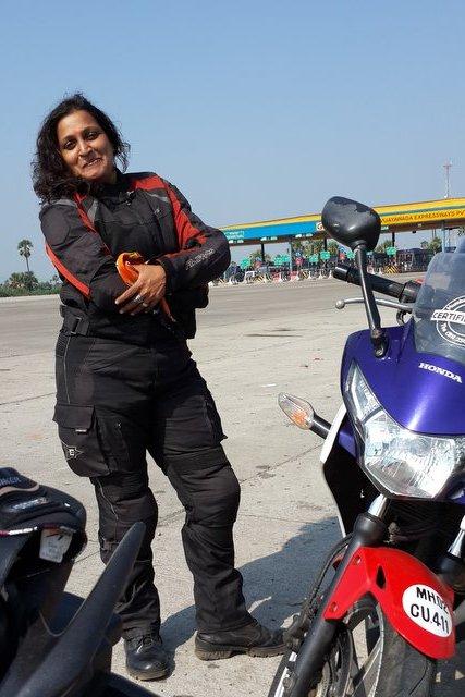 Woman Biker Shilpa Balakrishnan – somewhere on Southern Coast