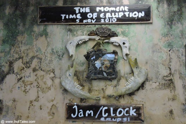 Clock Frozen in Time - Mount Merapi volcanic eruptions of 2010