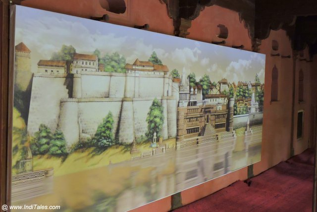 Wall Mural Depicting the Narmada Waterfront at Maheshwar