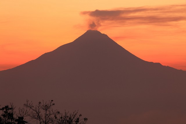 Sacred Mount Merapi at Java in Indonesia