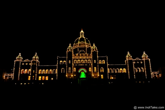 Parliament Building at Night - Victoria BC Canada