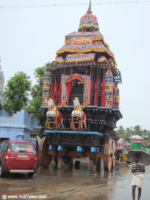 Wooden Ratham or Chariot at Suchindram Temple