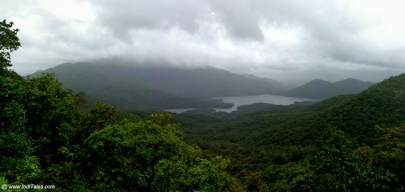 Anjunem Dam waters panoramic view from Chorla Ghat