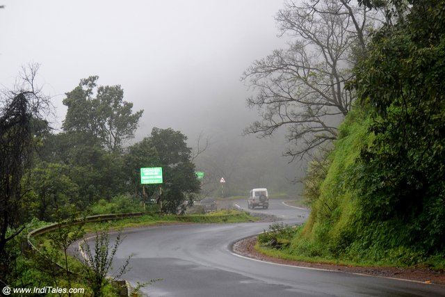 Cloudy Ghats road of Chorla Ghat