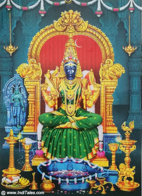 Image of Kamakshi Devi at Kanchi Kamkoti Peeth