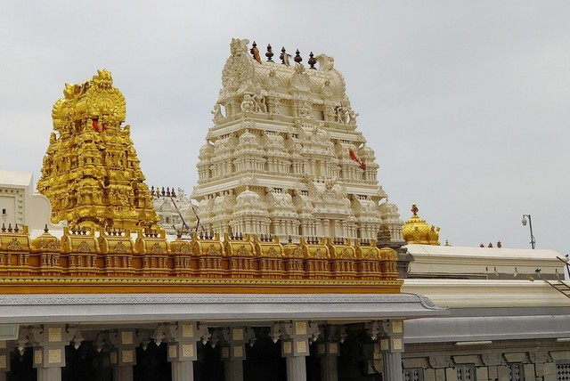 Gopurams of Kamakshi Amma Temple - Kanchipuram. Image - Temple Website