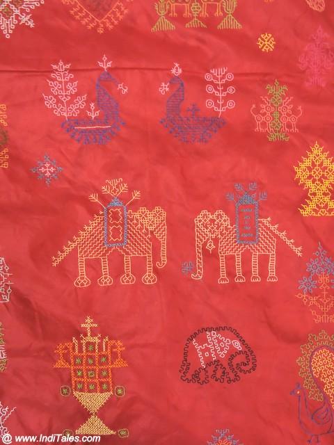 Kasuti Sari from Dharwad