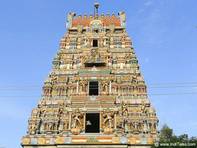 Gopuram of Kumarakottam Temple in Kanchipuram