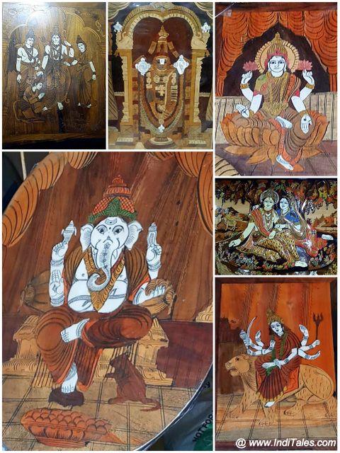 Mysore Wooden Handicrafts of Hindu Deities