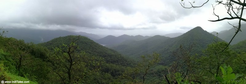 Panoramic view of western ghats from Chorla Ghat