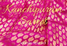 Kanchipuram Sarees in Pink & Gold