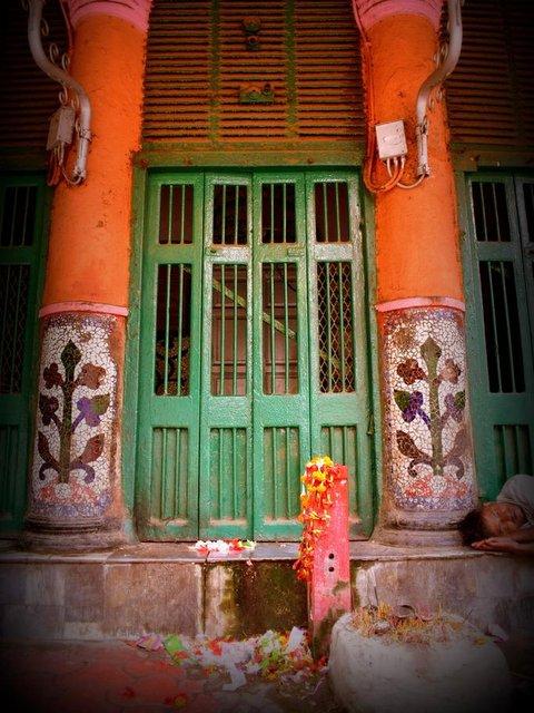 Ancient Pillars at Siddheshwari Kali Mata Temple in Kolkata