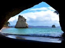 Cathedral Cove or Te Whanganui-A-Hei is one of the most picturesque beaches of the North Island New Zealand