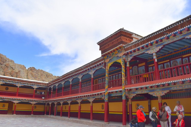 Colorful interiors of Hemis Monastery