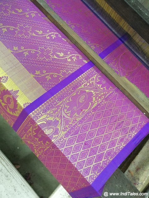 A Kanchipuram Saree on Loom
