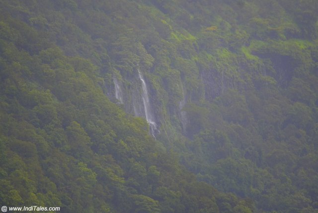 More seasonal waterfalls off-western ghats view from Surla