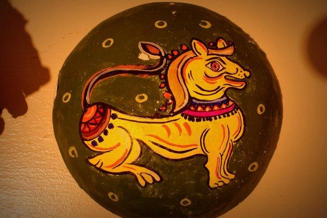 Ganjifa Card in Kalighat Style Painting
