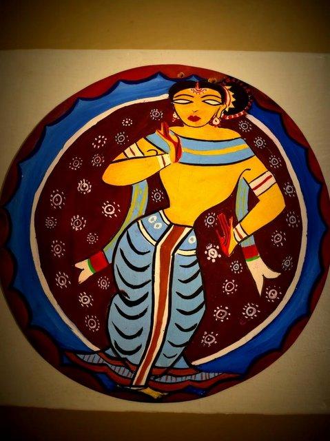 Kalighat School of Painting that evolved around Kalighat Kali Temple in Kolkata
