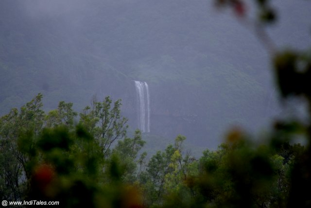 Unknown seasonal waterfalls view from Chorla Ghat, Goa