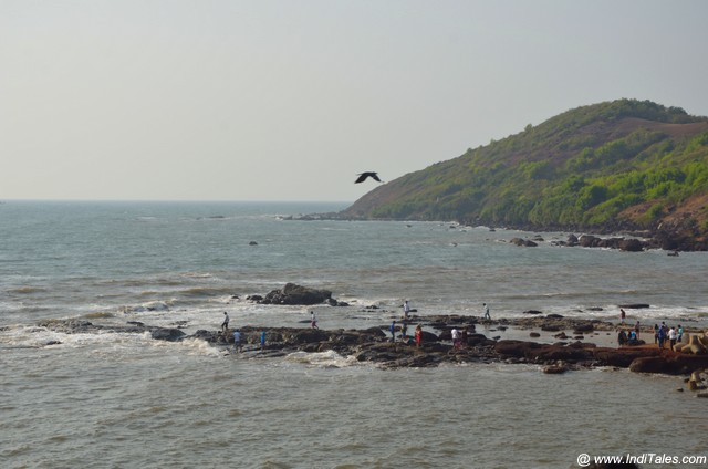 Rocky terrain of Anjuna Beach
