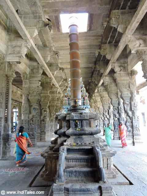 Dhwajastambh of Ekambareswarar Temple in Kanchipuram