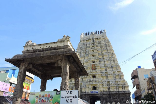 First view of Ekambareswarar Temple in Kanchipuram