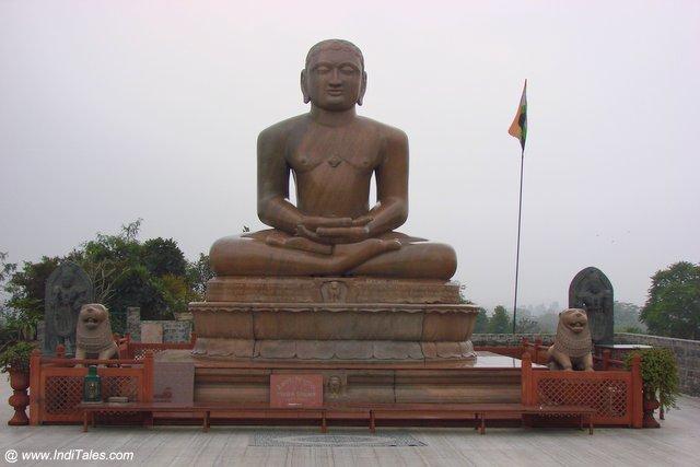 Mahavir Idol atop Ahimsa Sthal