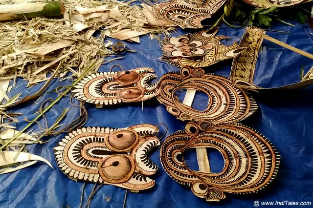 Padayani Masks being prepared for the event