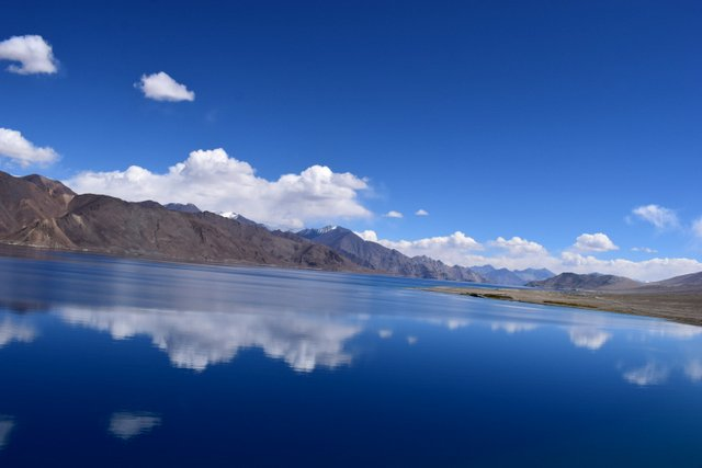 Azure blue waters of Himalayan Lake