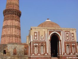 Alai Darwaza and Qutub Minar in background