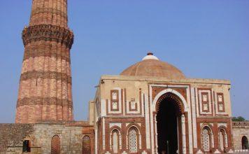 Alai Darwaza and Qutub Minar in background
