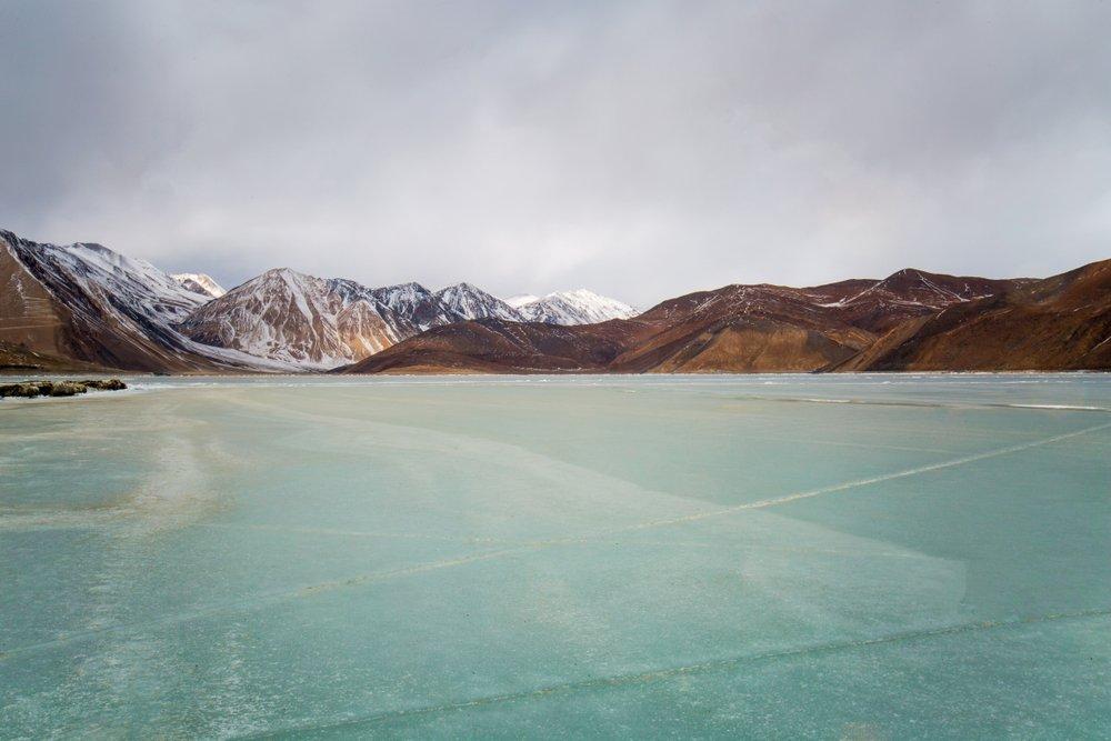 Frozen Pangong Lake, Ladakh