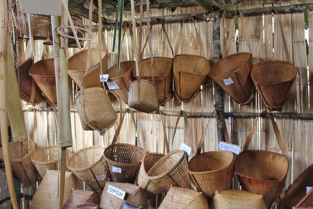 Traditional Bamboo baskets