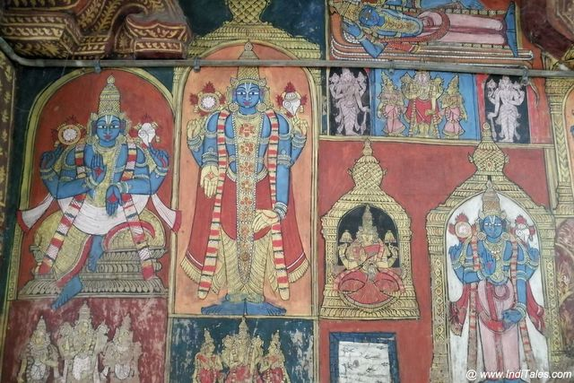 Wall Murals Varadaraja Perumal Temple in Kanchipuram