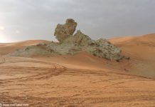Camel Rock - the favorite tourist destination of Mleiha