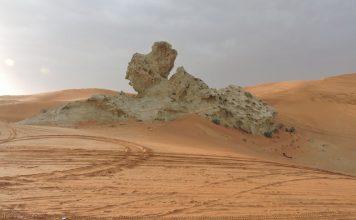 Camel Rock - the favorite tourist destination of Mleiha