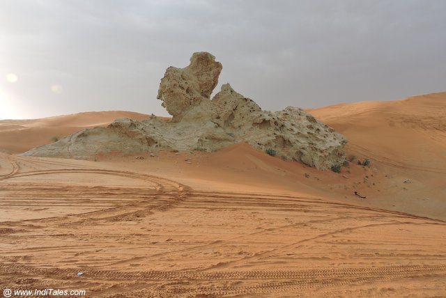 Camel Rock - the favorite tourist destination of Mleiha Archaeological Centre